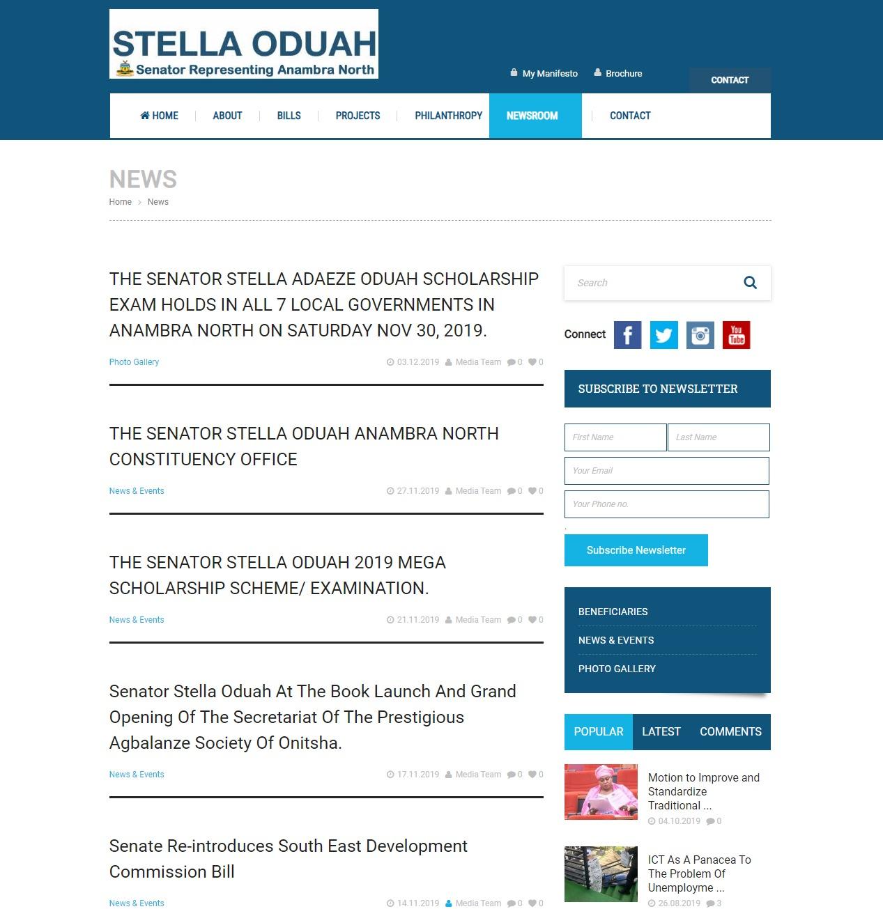 Senator Stellah Oduah Website