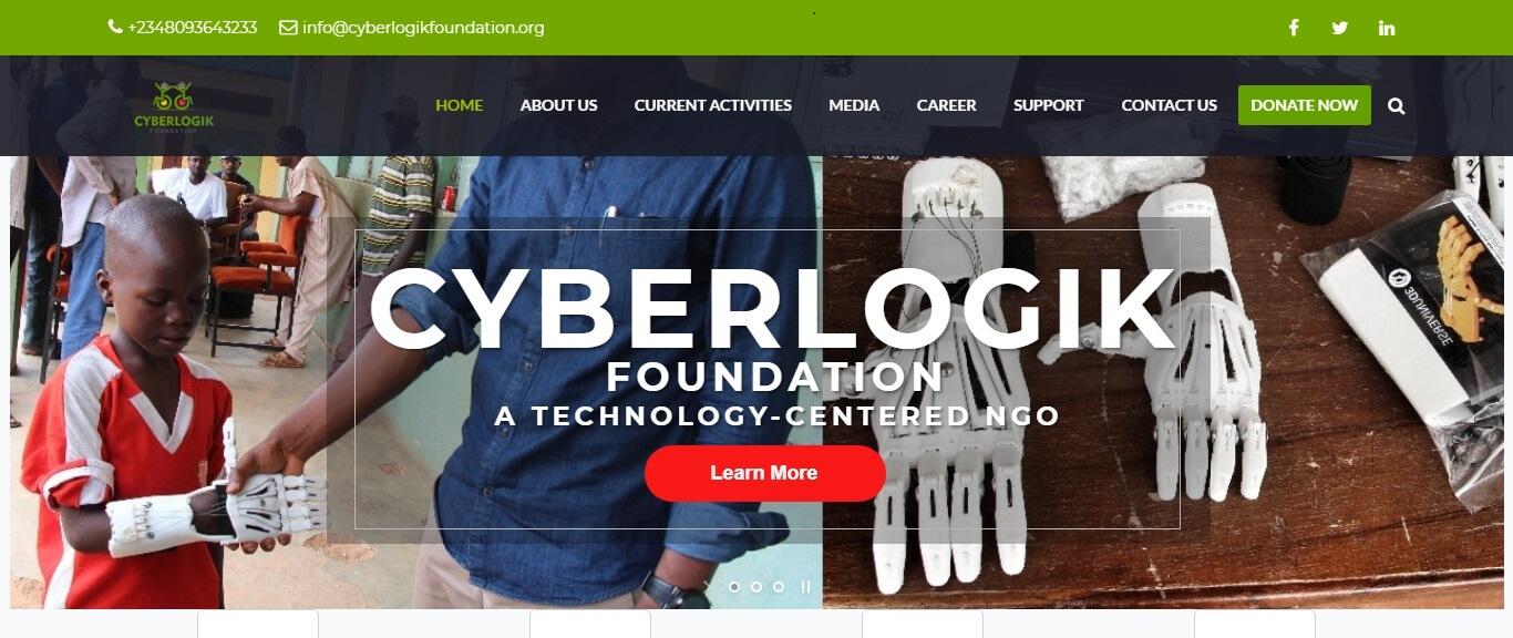 NGO website Cyberlogik Foundation