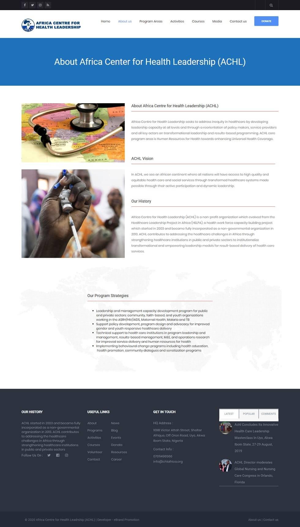 web design nigeria AFCHEL