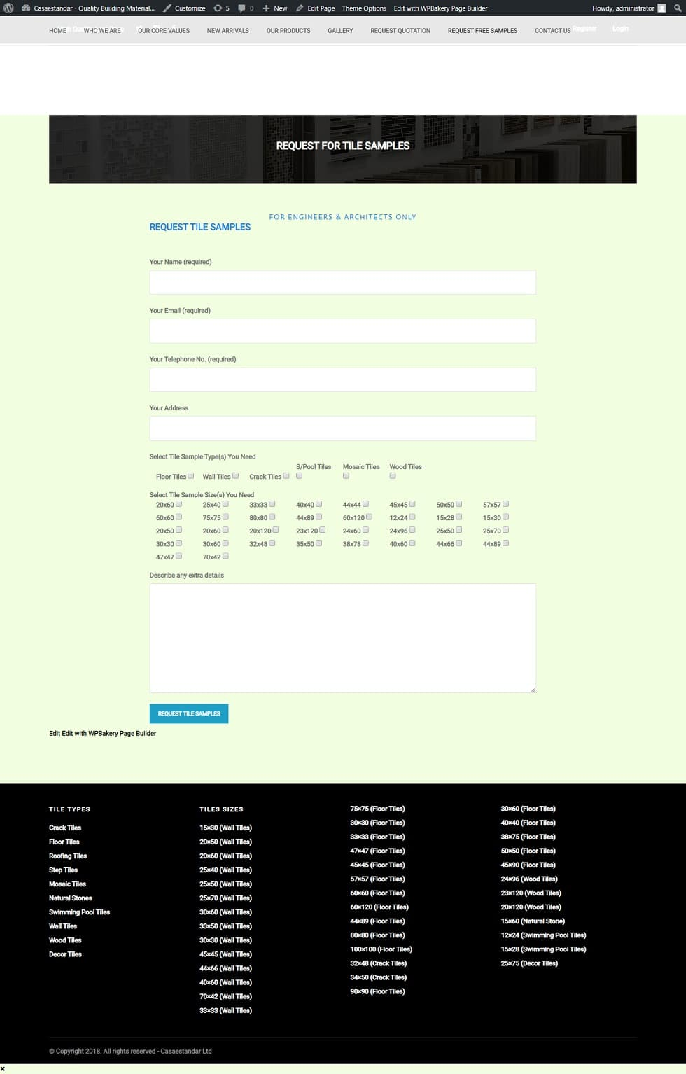 Capipar nigeria website design project