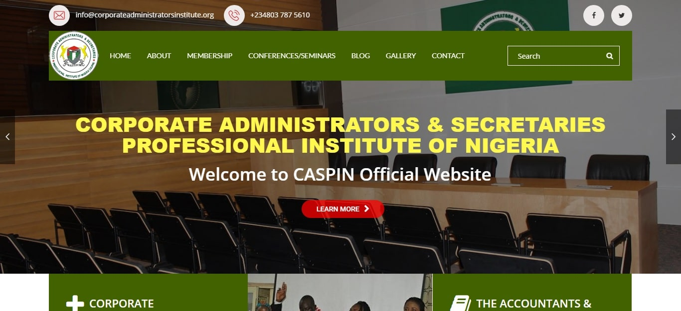 Corporate administrators and scretaries institute