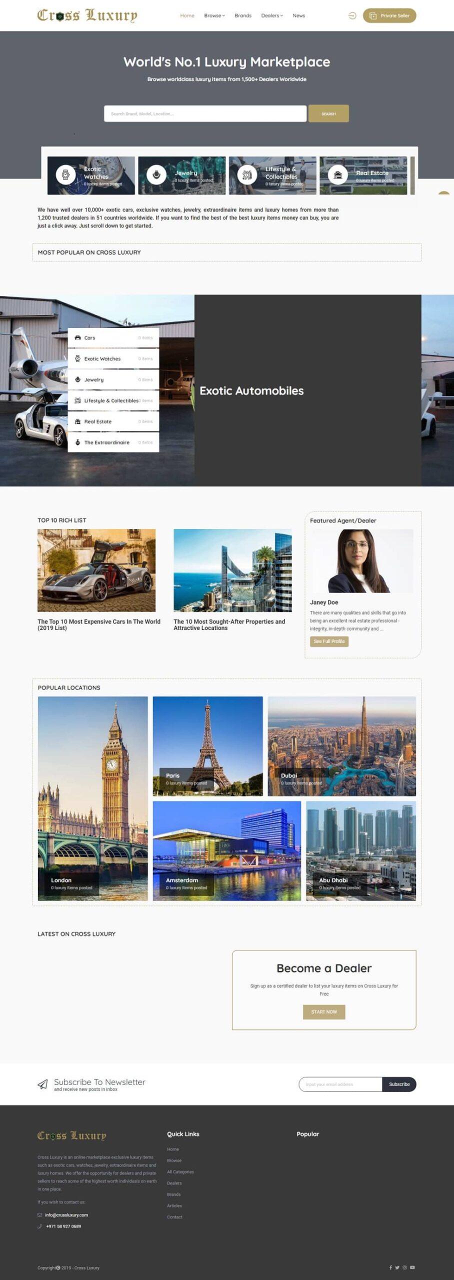 Web design Nigeria - Cross Luxury Dubai
