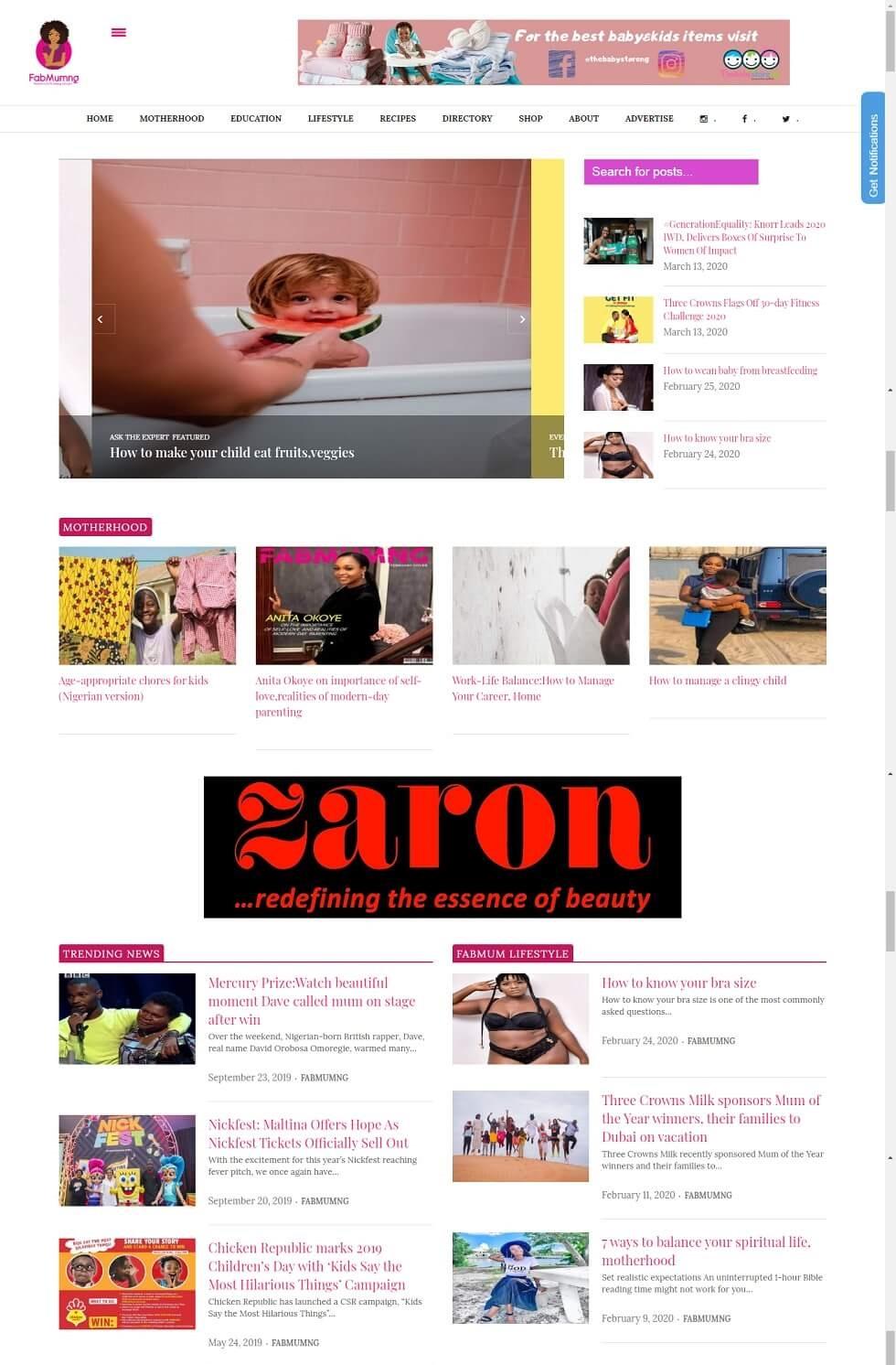 blog design project