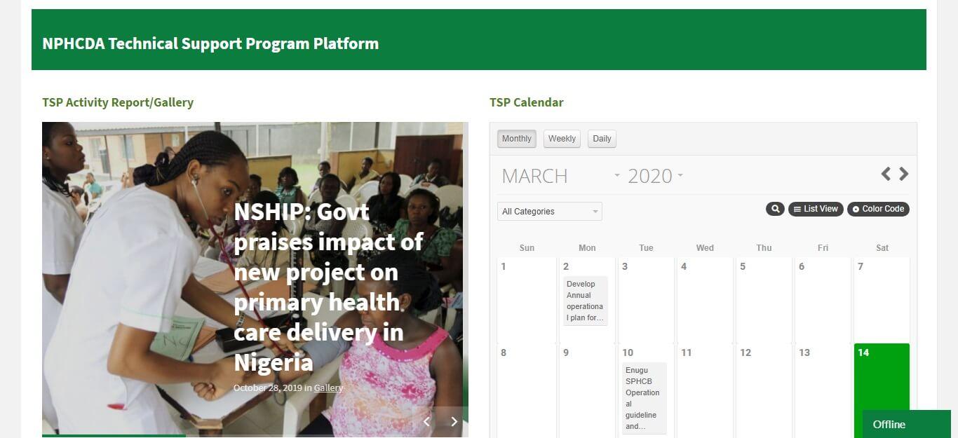 NPHCDA Technical support website