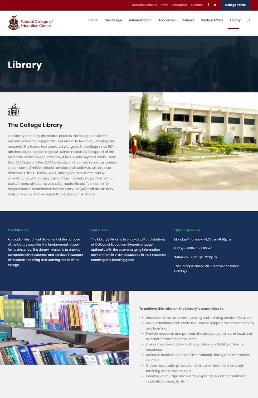 University website image FCE Okene