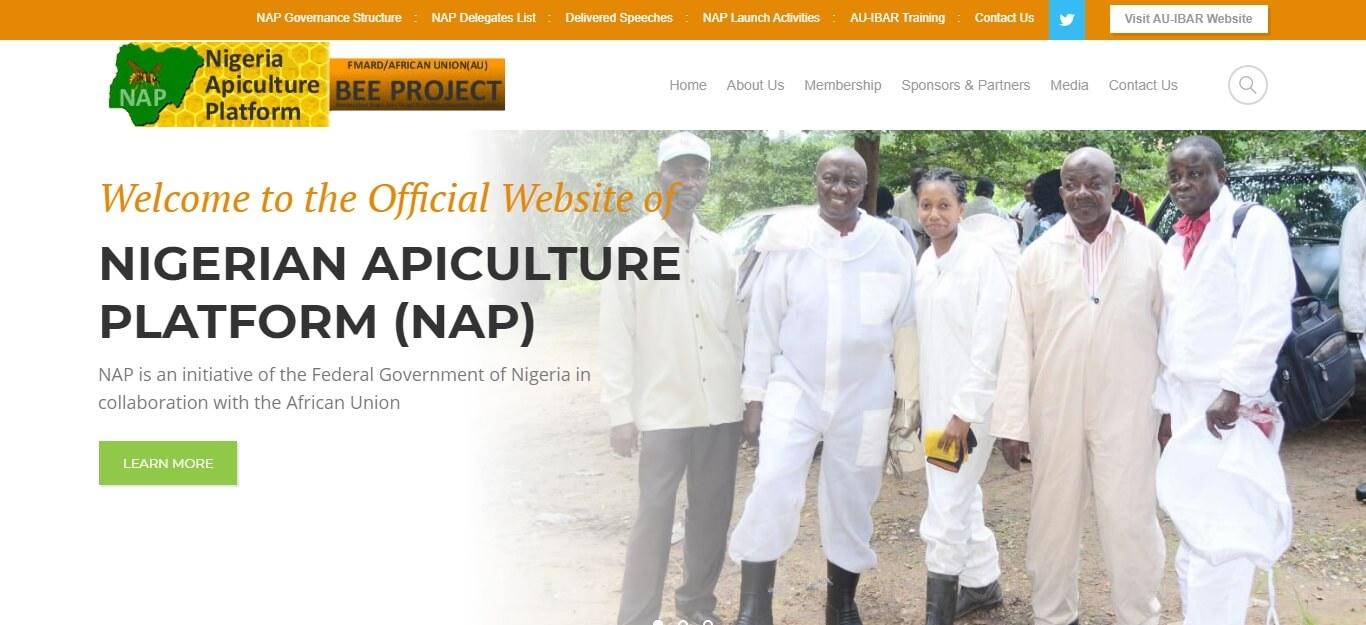 NGO website for Nigeria Apiculture Platform