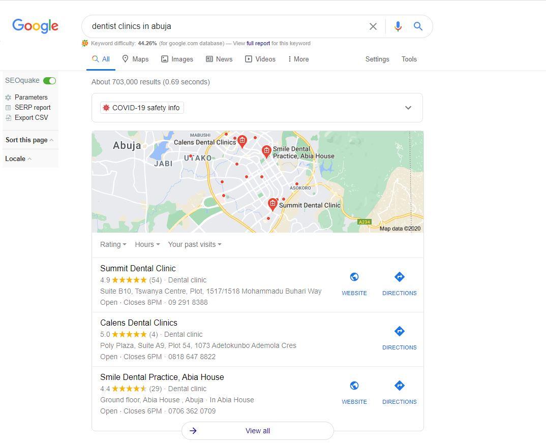 google local promotion in Nigeria